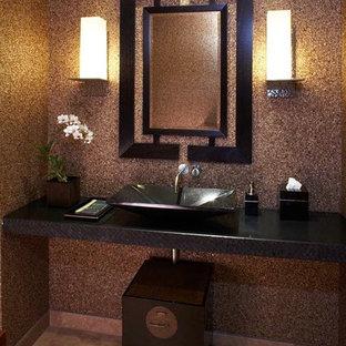 ハワイのトロピカルスタイルのおしゃれなトイレ・洗面所の写真