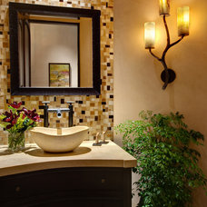 Eclectic Powder Room by Alison Whittaker Design, Inc.