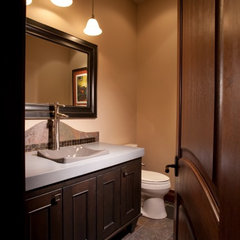 contemporary powder room by Aneka Interiors Inc.