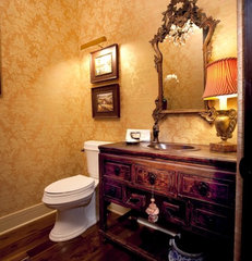 traditional powder room by Aneka Interiors Inc.