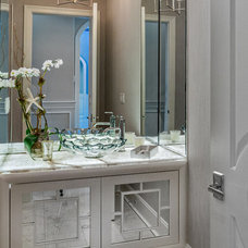 Traditional Powder Room by Beres Design Group