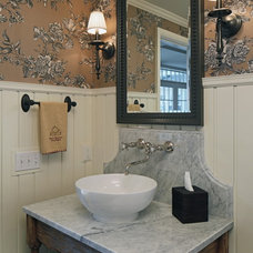 Traditional Powder Room by Cramer Kreski Designs