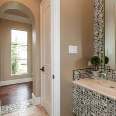 Contemporary Powder Room by David Mills Custom Homes