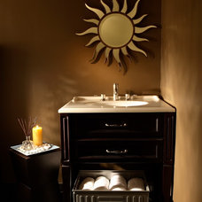 Eclectic Powder Room by Design Theory Interiors of California, Inc