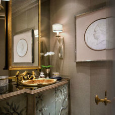 Traditional Powder Room by Donna Livingston Design