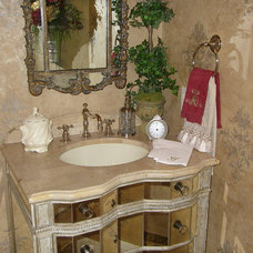 Traditional Powder Room by Finishing Touches Interior Design