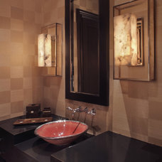 Modern Powder Room by Garrity Design Group