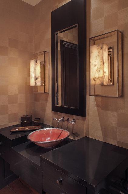 Modern Powder Room by Garrity Design Group