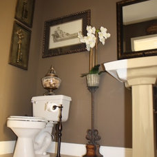 Traditional Powder Room by Christina de Armas Interiors