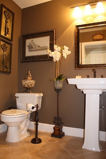 traditional powder room by Christina de Armas