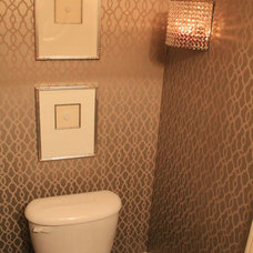 Traditional Powder Room by Michelle's Interiors