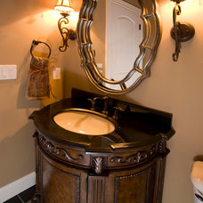 Traditional Powder Room by O'Neal Builders, Inc.