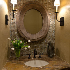 eclectic powder room by Carla Aston | Interior Designer