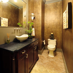contemporary powder room by Signature Custom Homes