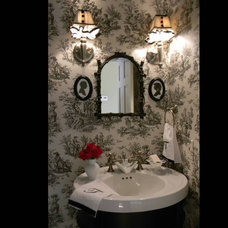 Traditional Powder Room by Suzanne Tullock Interiors