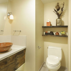 Contemporary Powder Room by Morse Remodeling, Inc. and Custom Homes