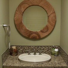 Traditional Powder Room by Chuck Miller Construction Inc.