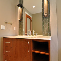 contemporary powder room by Ventana Construction LLC