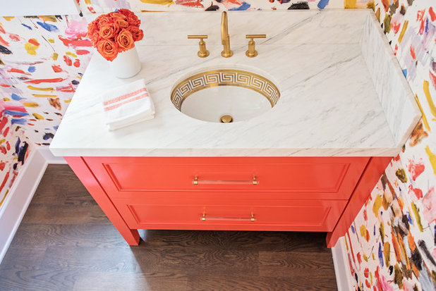Eclectic Powder Room by BRADSHAW DESIGNS LLC