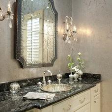 Powder Room by CDA Interior Design