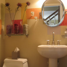 Contemporary Powder Room by Home Matters Interior Design and Staging