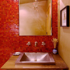 Contemporary Powder Room by Ward-Young Architecture & Planning - Truckee, CA