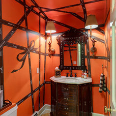 Eclectic Powder Room by lisa limited