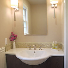Traditional Powder Room by CW Design, LLC