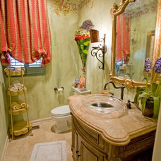 Traditional Powder Room by 3wiredesigns