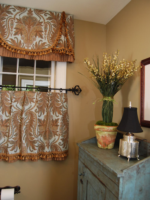 cafe curtain bathroom and cloakroom design ideas