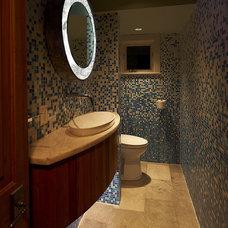 Modern Powder Room by Adler Design Build