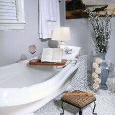 Traditional Powder Room by Adrienne Elliott Designs