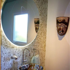 Contemporary Powder Room by InterDesign Studio