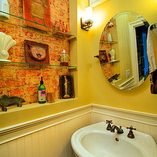 Traditional Powder Room by Renewal Design-Build