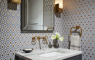 11 of Our Most Popular New Powder Rooms — From White Tile to Wild