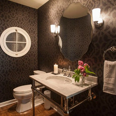 Traditional Powder Room by Amy Troute Inspired Interior Design