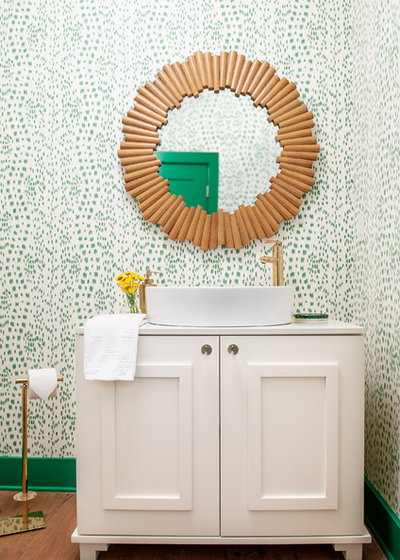 Transitional Powder Room by Andria Fromm Interiors