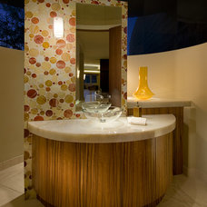 Contemporary Powder Room by Angelica Henry Design