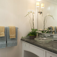 traditional powder room by Arch Studio, Inc.