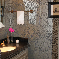 Traditional Powder Room by Bella Spazio/ Celine Modern Art