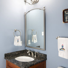 Traditional Powder Room by Benson Homes LLC