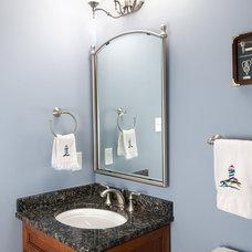 Traditional Powder Room by Benson Homes LLC