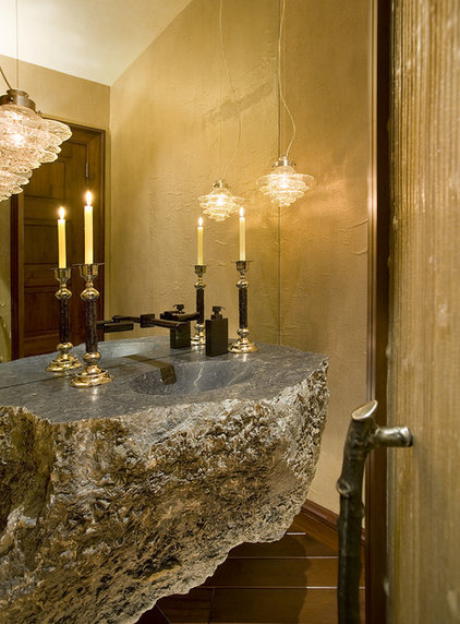 Rustic Powder Room by Billy Beson Company