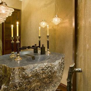 Powder room - rustic powder room idea in Minneapolis