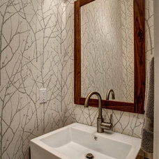 Craftsman Powder Room by Board and Vellum