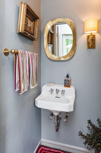 Contemporary Powder Room by Cheryl Burke Interior Design