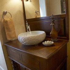 Traditional Powder Room by Christine Sutphen, ASID, NCIDQ
