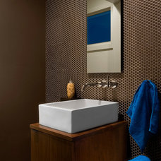 Modern Powder Room by cky design, inc.