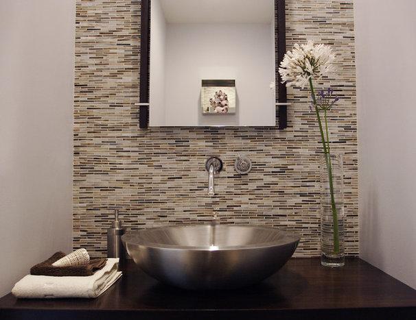 Modern Powder Room by Susan Deneau Interior Design