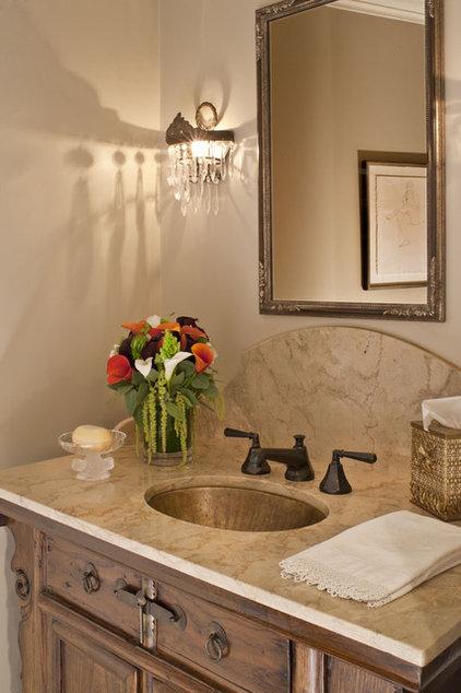 Rustic Powder Room by Dayna Katlin Interiors